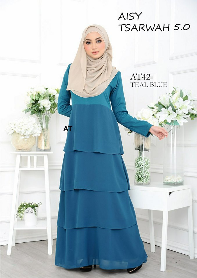 DRESS RAYA CREPE CHIFFON LINING AISY TSARWAH 5.0 AT42 2