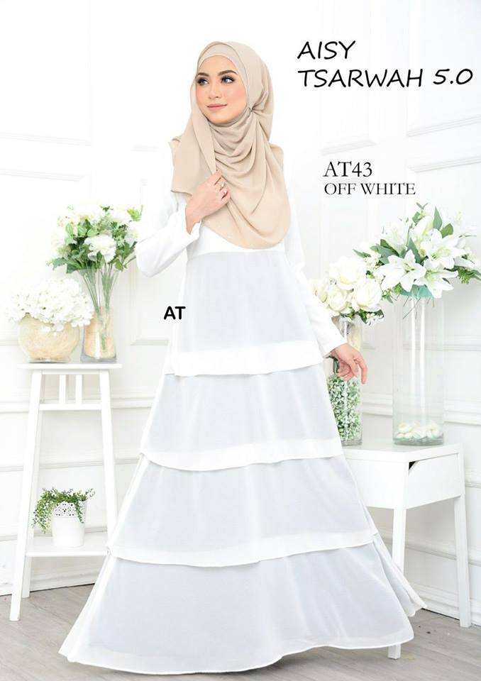 DRESS RAYA CREPE CHIFFON LINING AISY TSARWAH 5.0 AT43 1