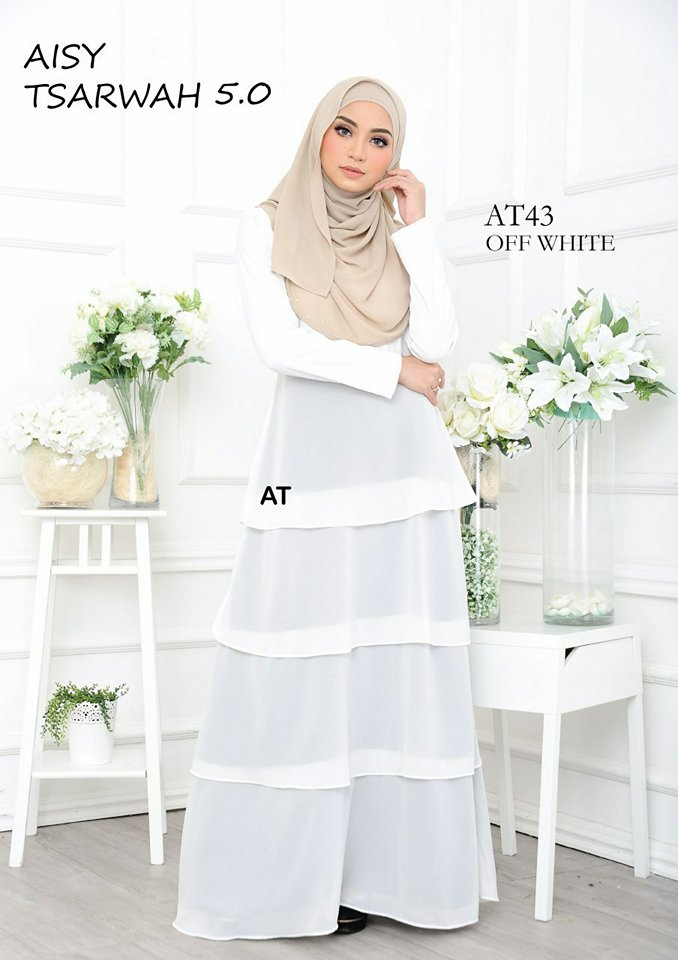 DRESS RAYA CREPE CHIFFON LINING AISY TSARWAH 5.0 AT43 2