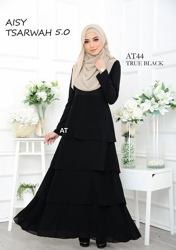 DRESS RAYA CREPE CHIFFON LINING AISY TSARWAH 5.0 AT44 1