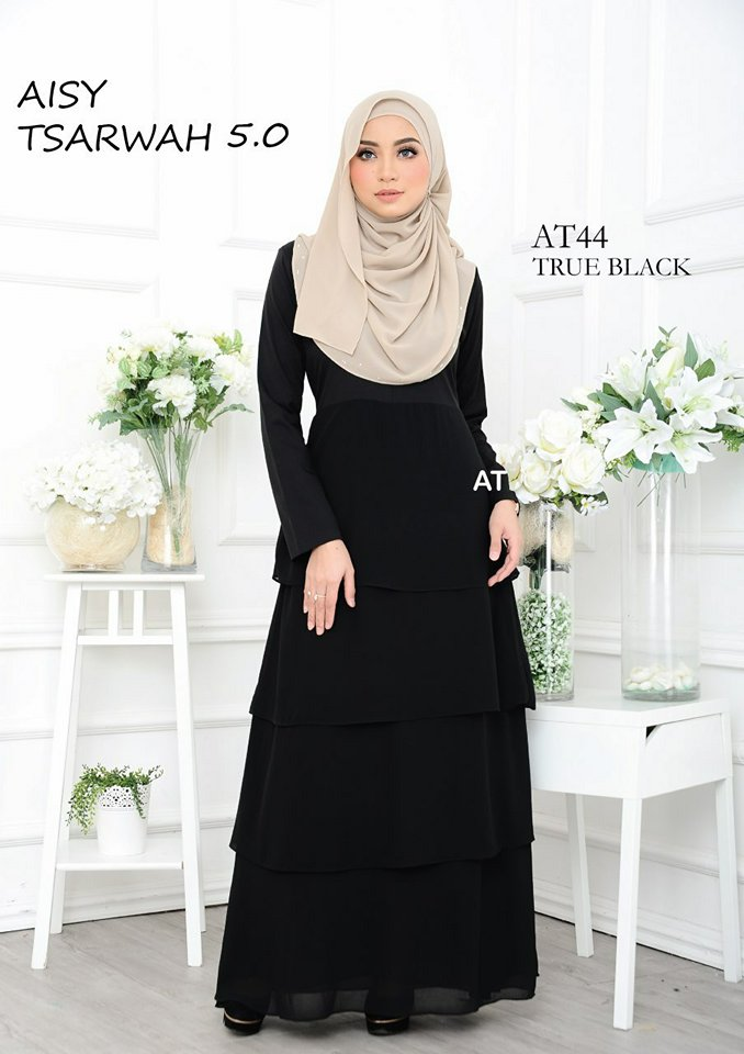 DRESS RAYA CREPE CHIFFON LINING AISY TSARWAH 5.0 AT44 2