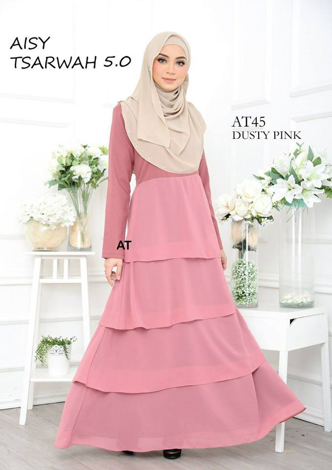 DRESS RAYA CREPE CHIFFON LINING AISY TSARWAH 5.0 AT45 1