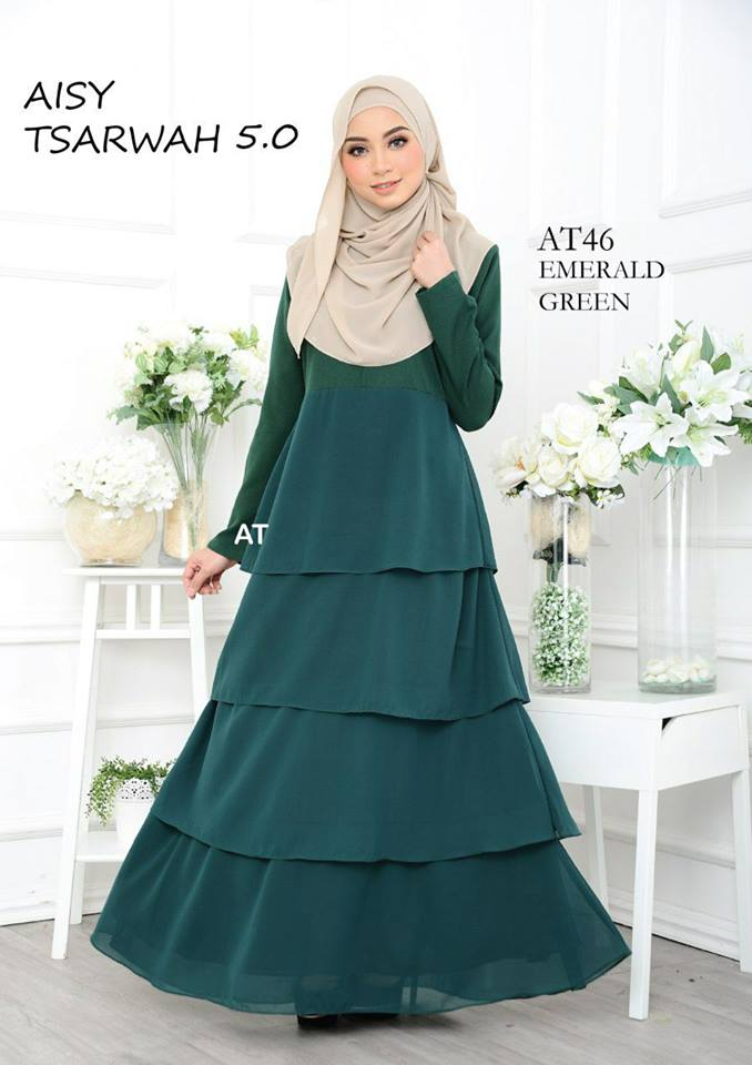 DRESS RAYA CREPE CHIFFON LINING AISY TSARWAH 5.0 AT46 1