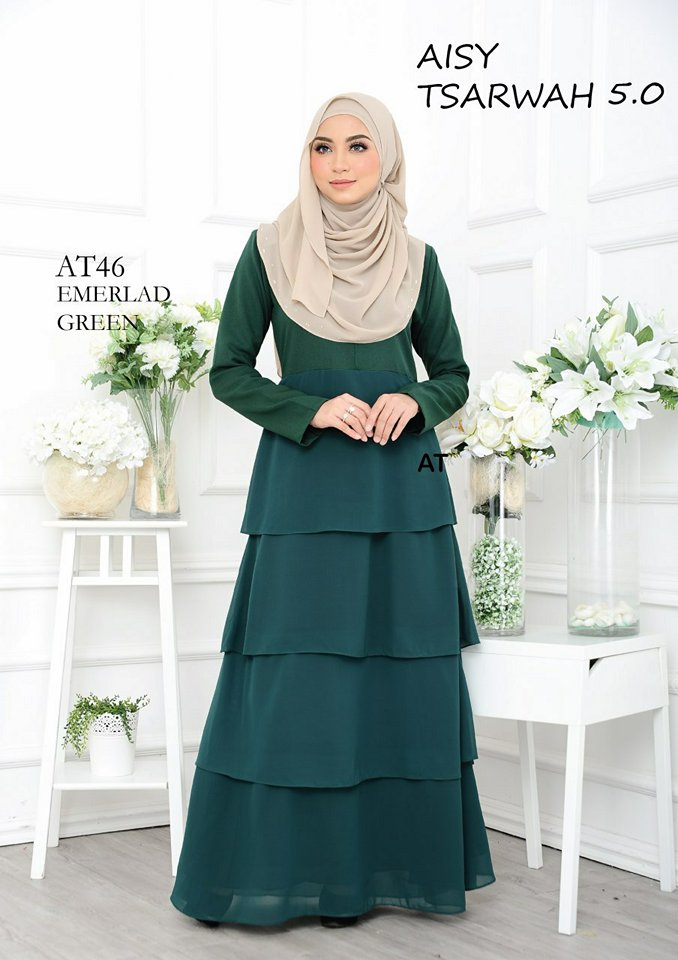 DRESS RAYA CREPE CHIFFON LINING AISY TSARWAH 5.0 AT46 2