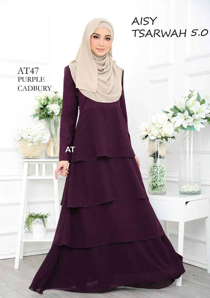 DRESS RAYA CREPE CHIFFON LINING AISY TSARWAH 5.0 AT47 1
