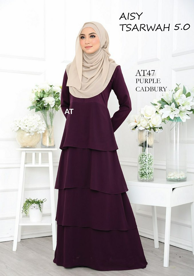 DRESS RAYA CREPE CHIFFON LINING AISY TSARWAH 5.0 AT47 2