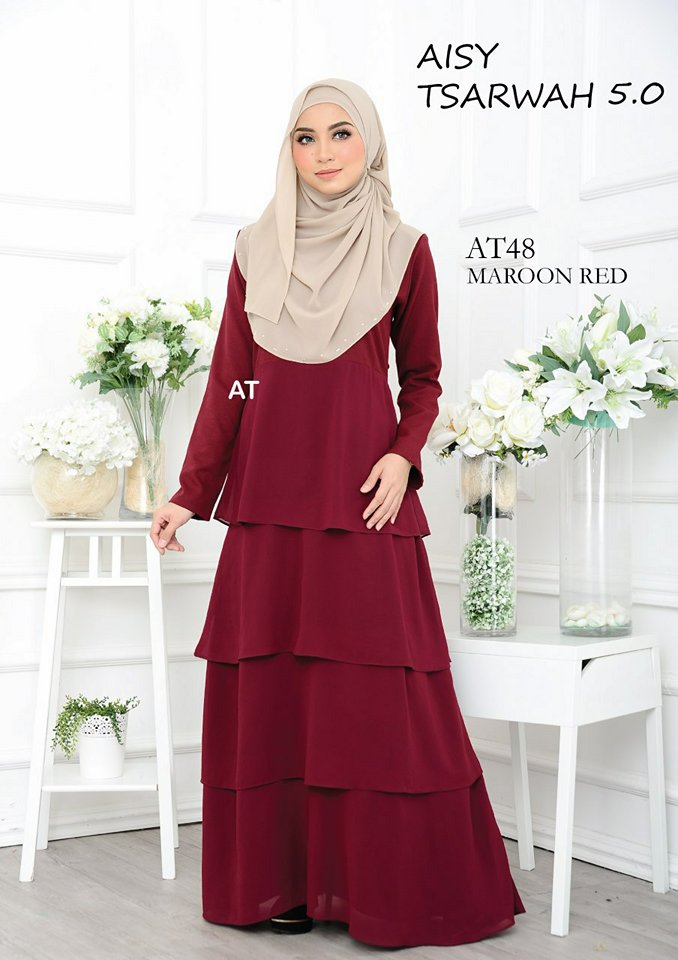 DRESS RAYA CREPE CHIFFON LINING AISY TSARWAH 5.0 AT48 1