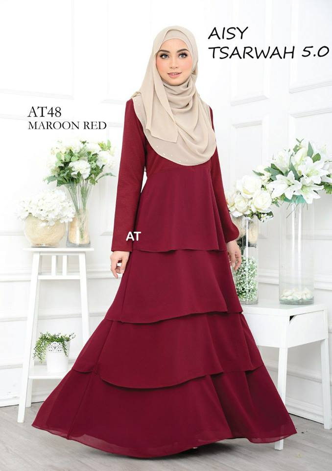 DRESS RAYA CREPE CHIFFON LINING AISY TSARWAH 5.0 AT48 2