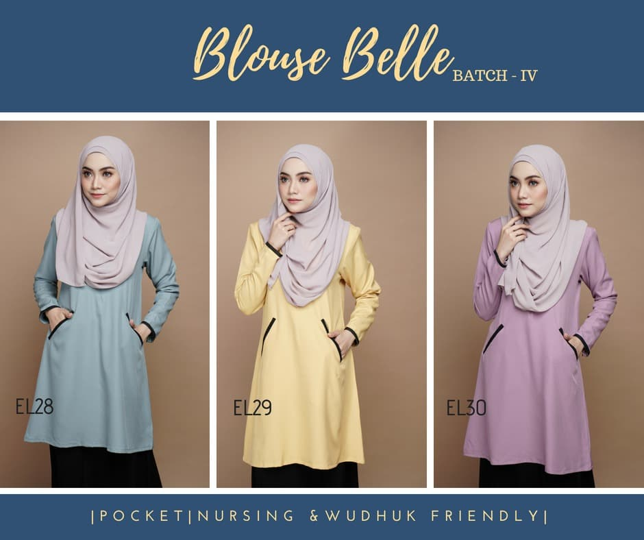 BLOUSE MUSLIMAH BELLE EL ALL 1