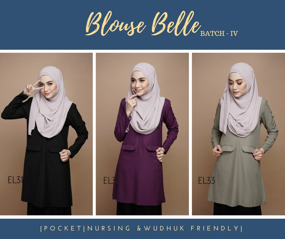 BLOUSE MUSLIMAH BELLE EL ALL 3