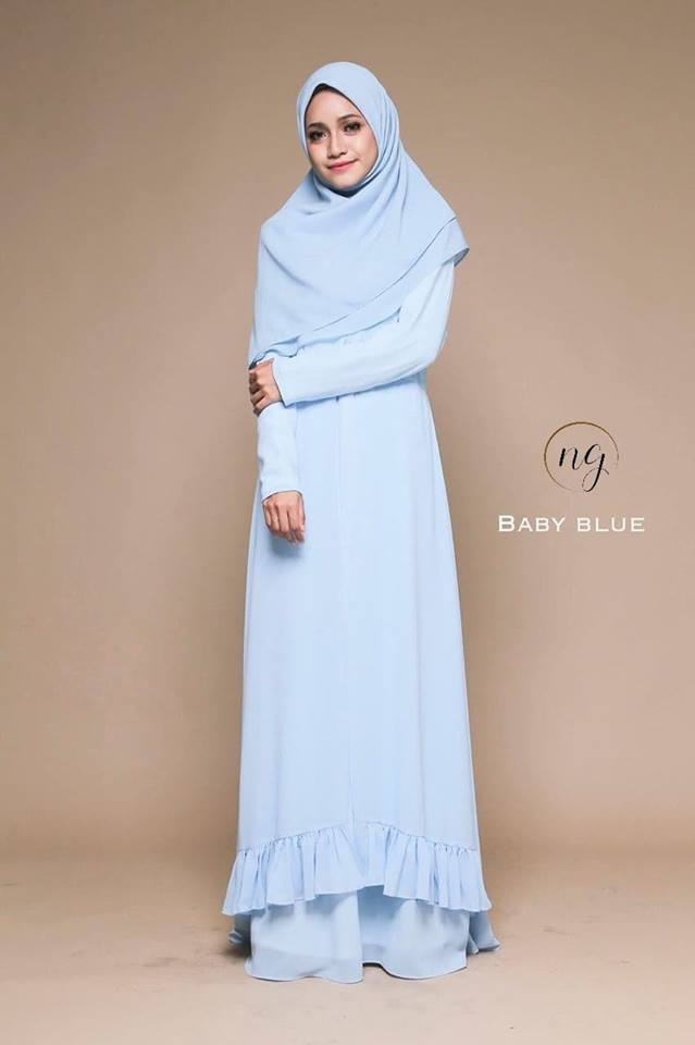 JUBAH DRESS ELORA BABY BLUE
