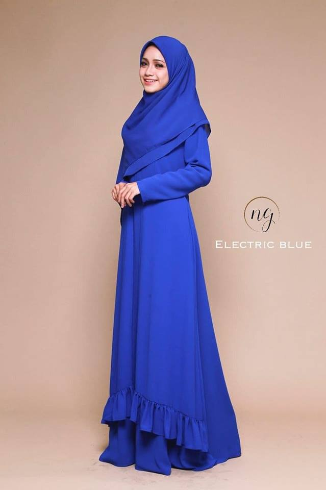 JUBAH DRESS ELORA ELECTRIC BLUE