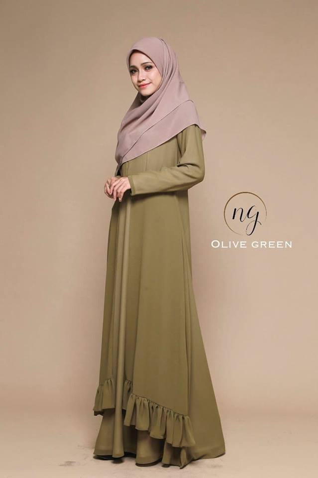 JUBAH DRESS ELORA GREEN