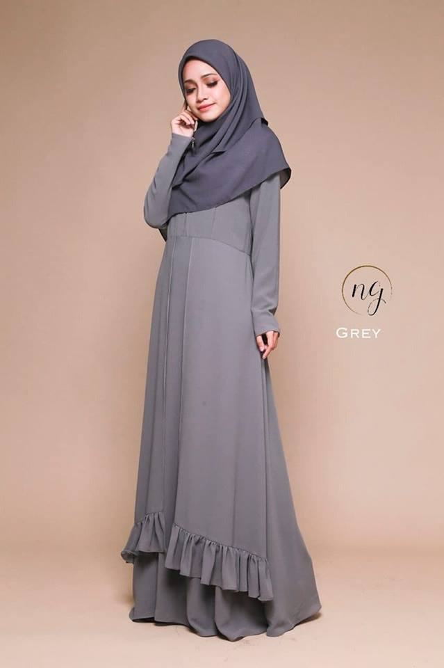 JUBAH DRESS ELORA GREY