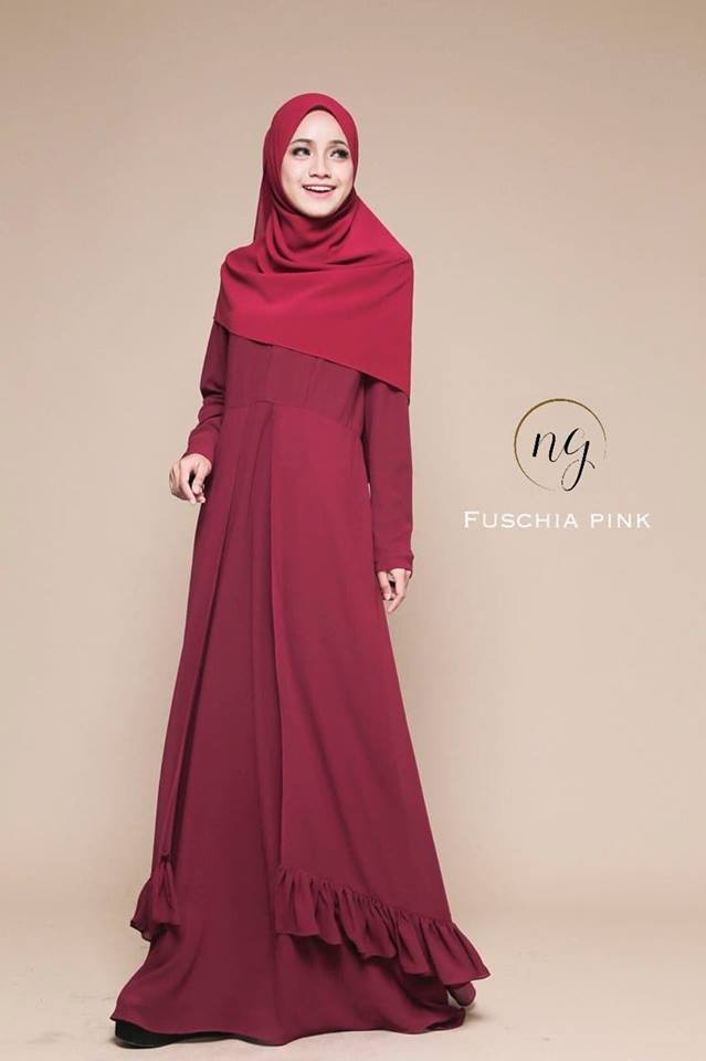 JUBAH DRESS ELORA PINK