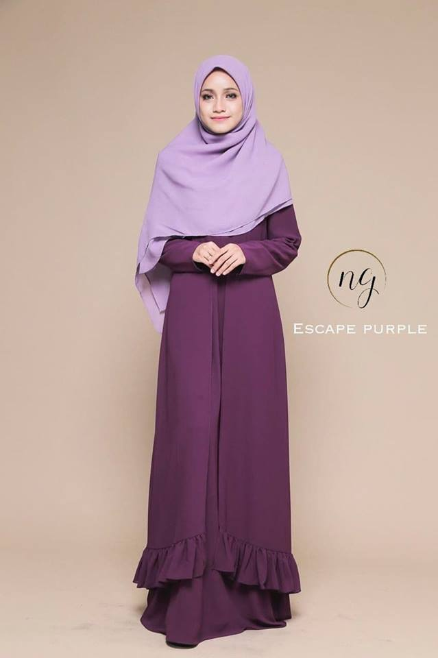 JUBAH DRESS ELORA PURPLE
