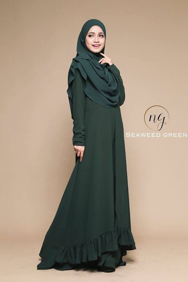 JUBAH DRESS ELORA SEAWEED