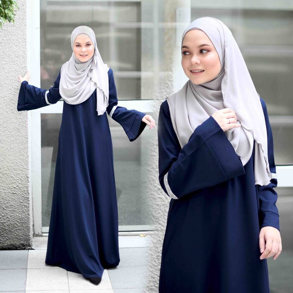 JUBAH LAYER ALIFAH NAVY BLUE