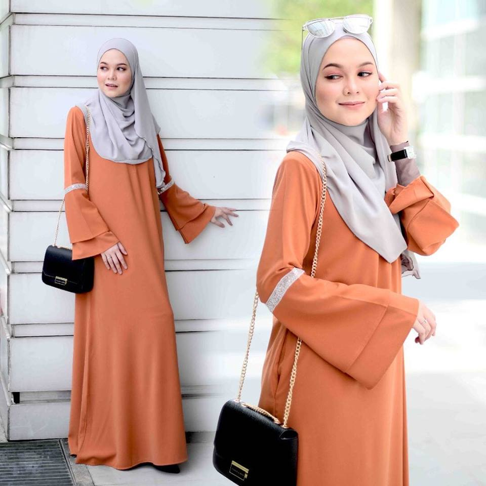 JUBAH LAYER ALIFAH ORANGE