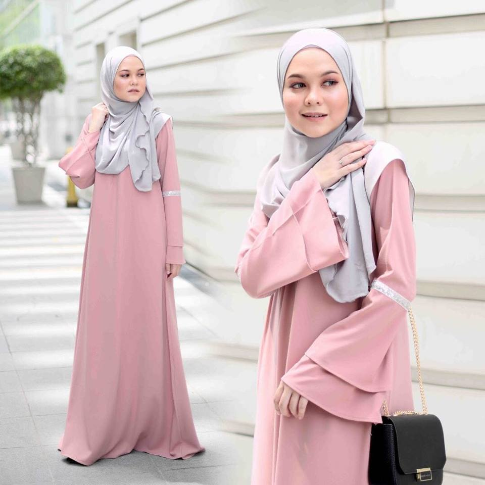 JUBAH LAYER ALIFAH PEACH