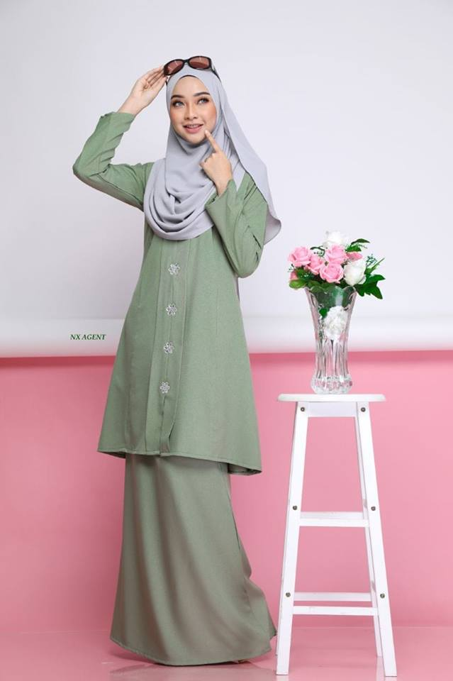 KEBARUNG NAWRA DUSTY GREEN 1