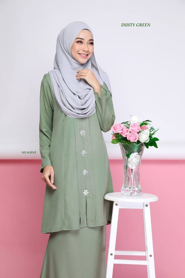 KEBARUNG NAWRA DUSTY GREEN 2
