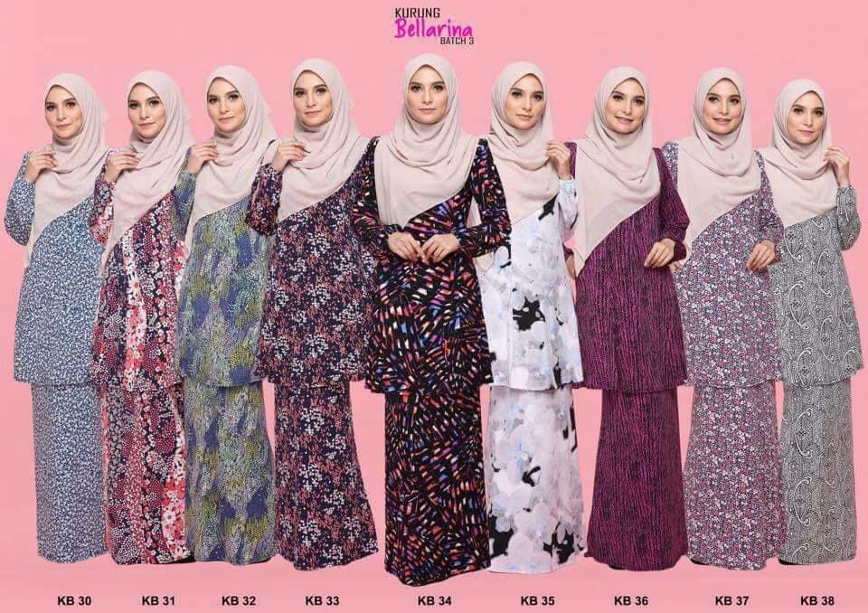 KURUNG MODEN LYCRA BELLARINA KB ALL