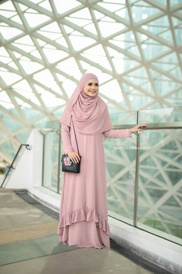 DRESS JUBAH NIKAH TUNANG WEDDING ELORA DUSTY PINK 2