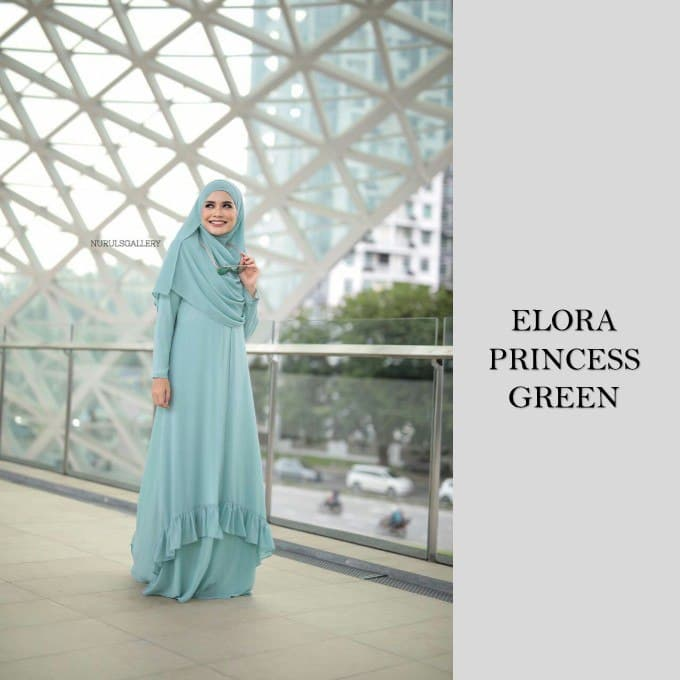 DRESS JUBAH NIKAH TUNANG WEDDING ELORA GREEN 1