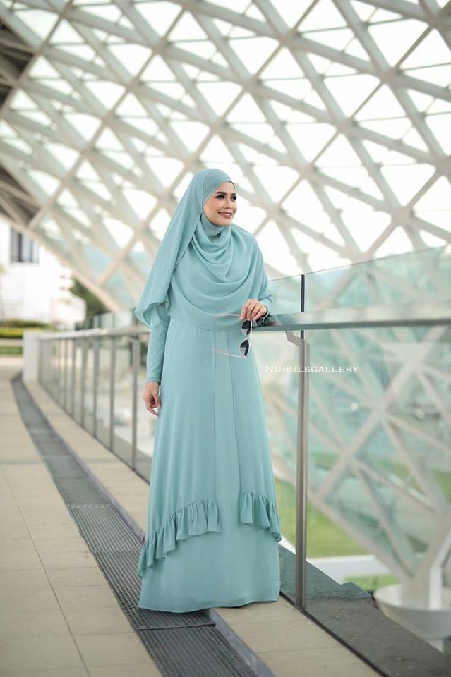 DRESS JUBAH NIKAH TUNANG WEDDING ELORA GREEN 2