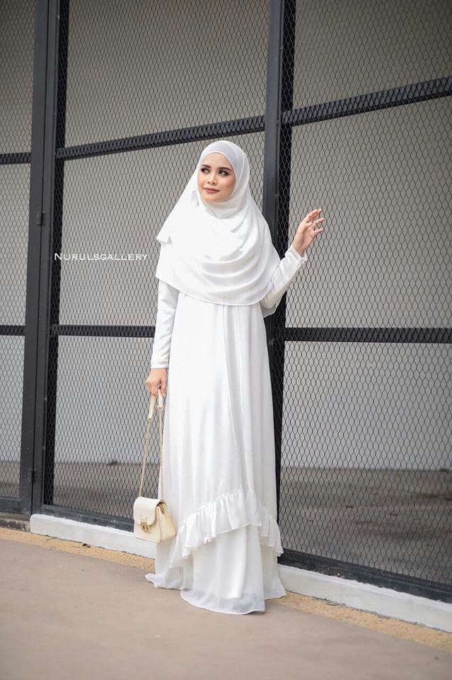 DRESS JUBAH NIKAH TUNANG WEDDING ELORA OFFWHITE 2