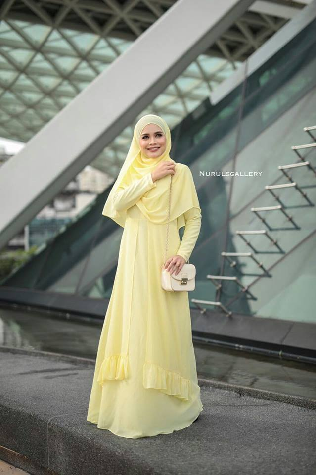 DRESS JUBAH NIKAH TUNANG WEDDING ELORA SWEET CORN 2
