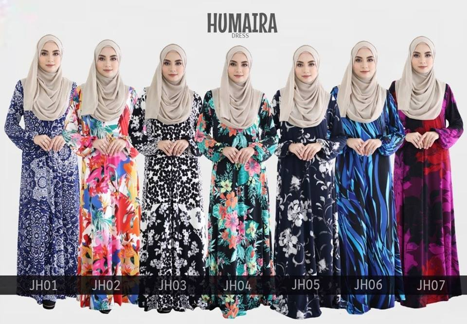 JUBAH LYCRA HUMAIRA IRONLESS JH ALL