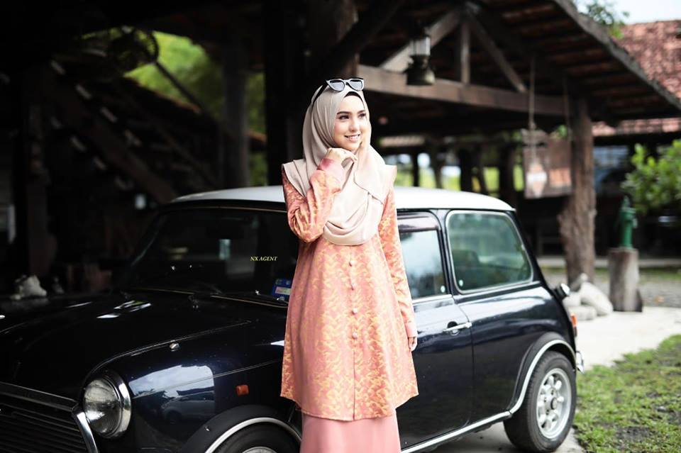KURUNG MODEN DAMIANA PEACH YELLOW 2