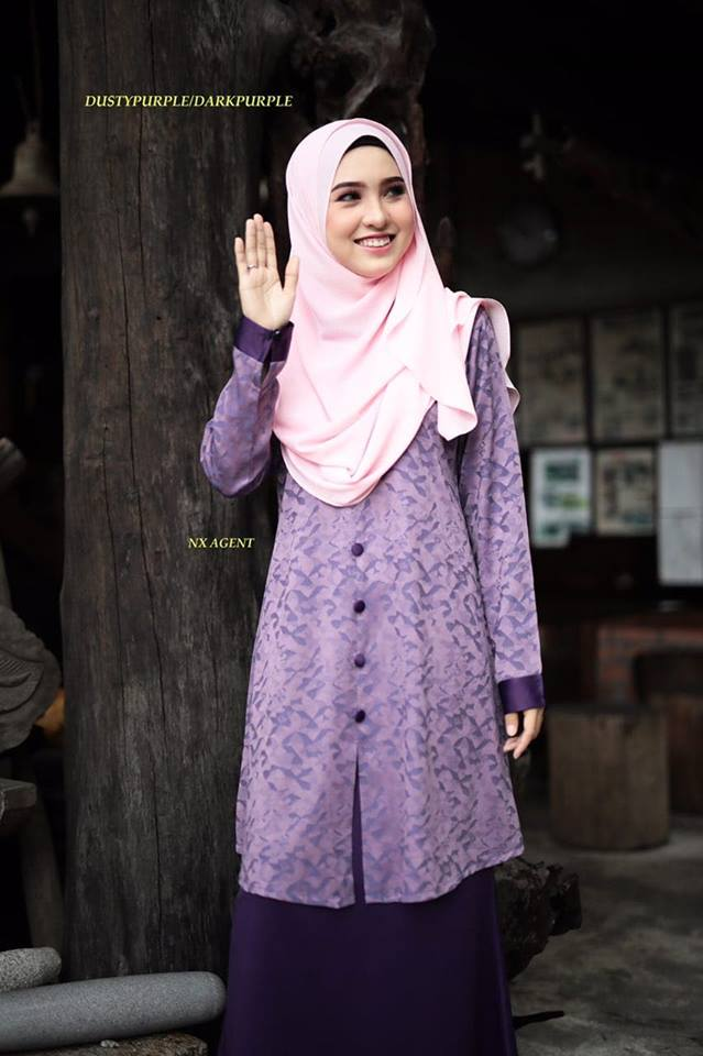 KURUNG MODEN DAMIANA PURPLE DARK PURPLE 1