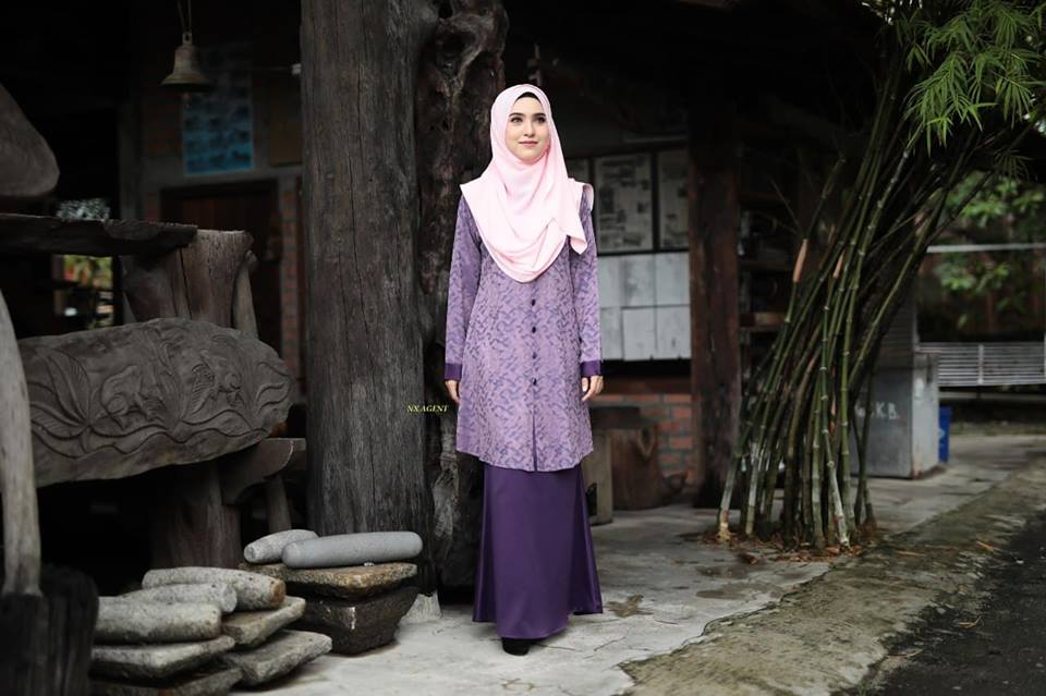 KURUNG MODEN DAMIANA PURPLE DARK PURPLE 2