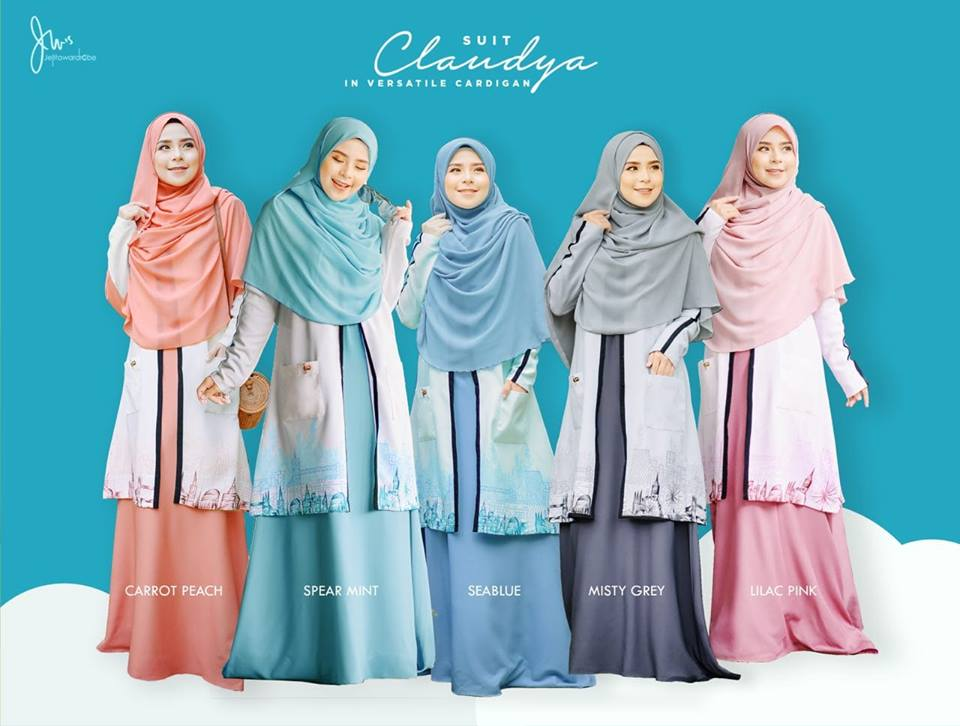 SUIT MUSLIMAH CARDIGAN JUBAH CLAUDYA ALL