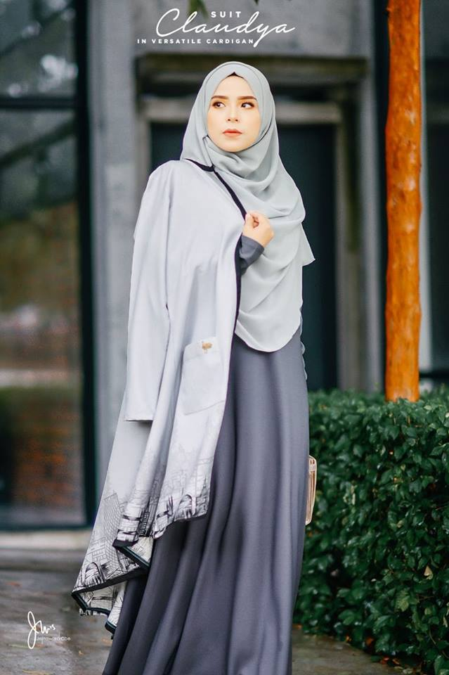 SUIT MUSLIMAH CARDIGAN JUBAH CLAUDYA CLOSE