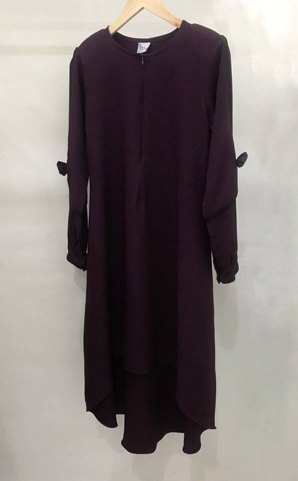 BLOUSE MUSLIMAH MODEN KE OFFICE MADELINE SEXY PURPLE 3