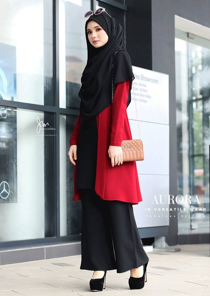 BLOUSE VERSATILE AURORA BLACK RED 1