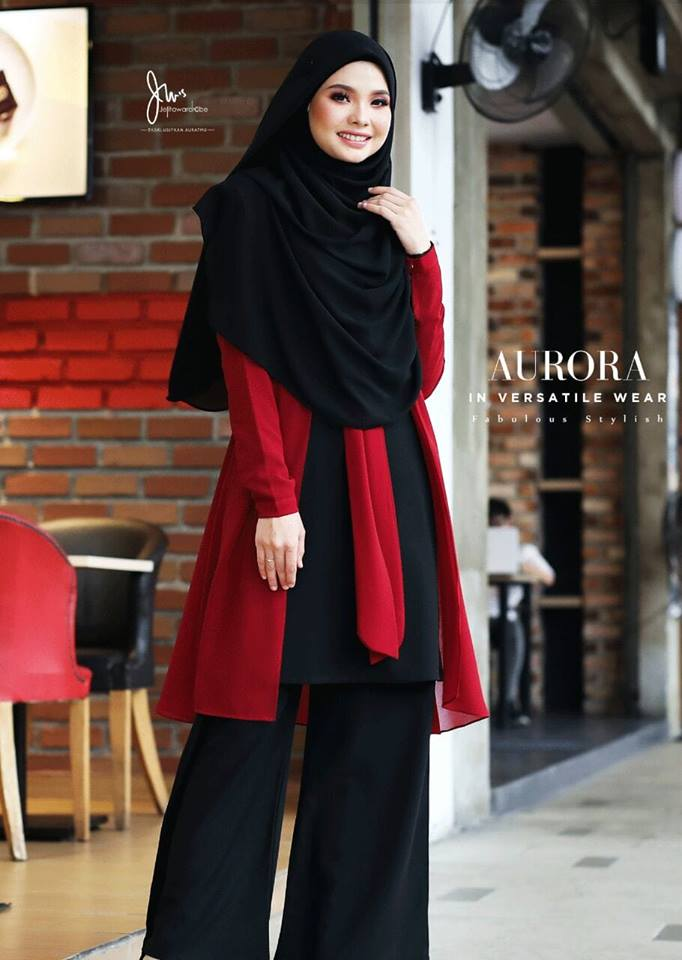 BLOUSE VERSATILE AURORA BLACK RED 2
