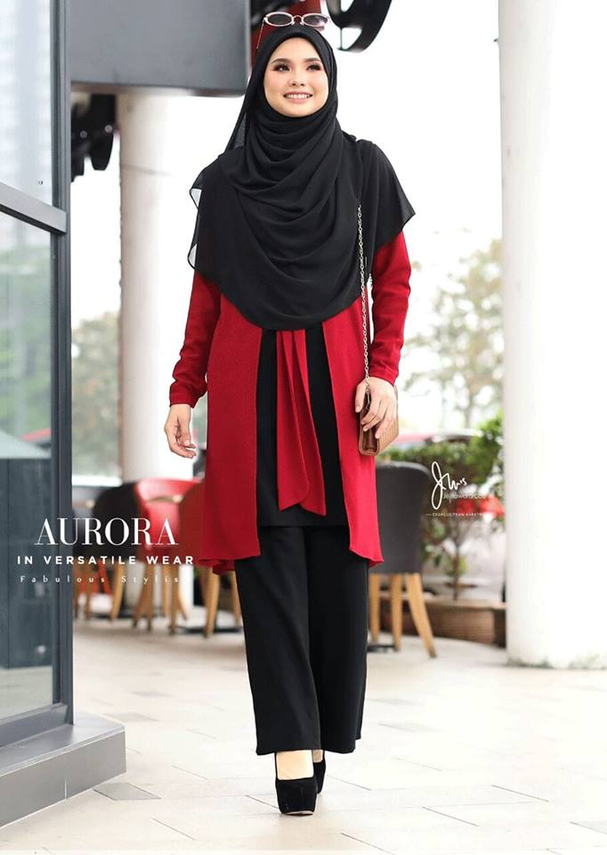 BLOUSE VERSATILE AURORA BLACK RED 3