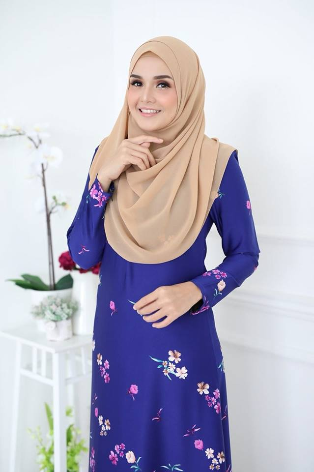 JUBAH KOREAN SILK ALYA 2.0 BIRU 2