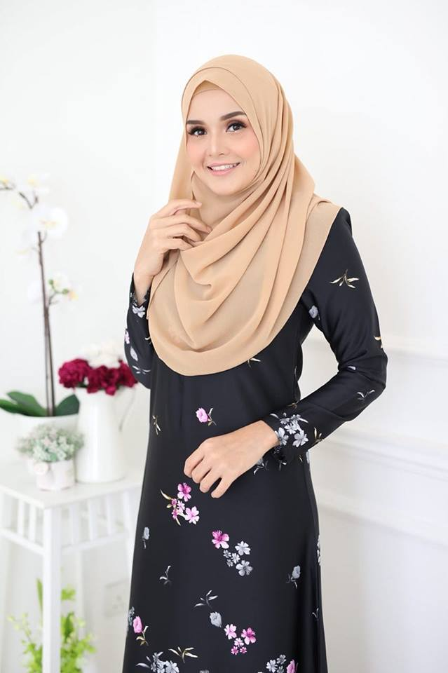 JUBAH KOREAN SILK ALYA 2.0 BLACK 2