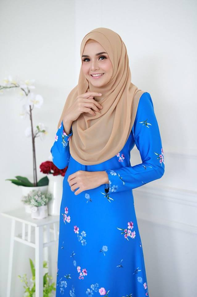 JUBAH KOREAN SILK ALYA 2.0 LIGHT BLUE 2