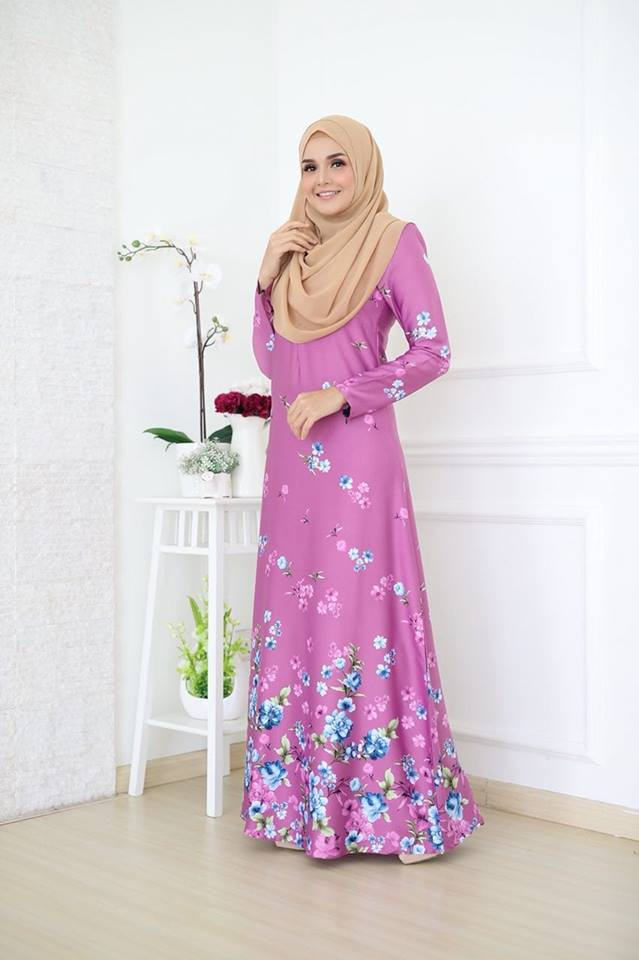 JUBAH KOREAN SILK ALYA 2.0 LIGHT PINK 1