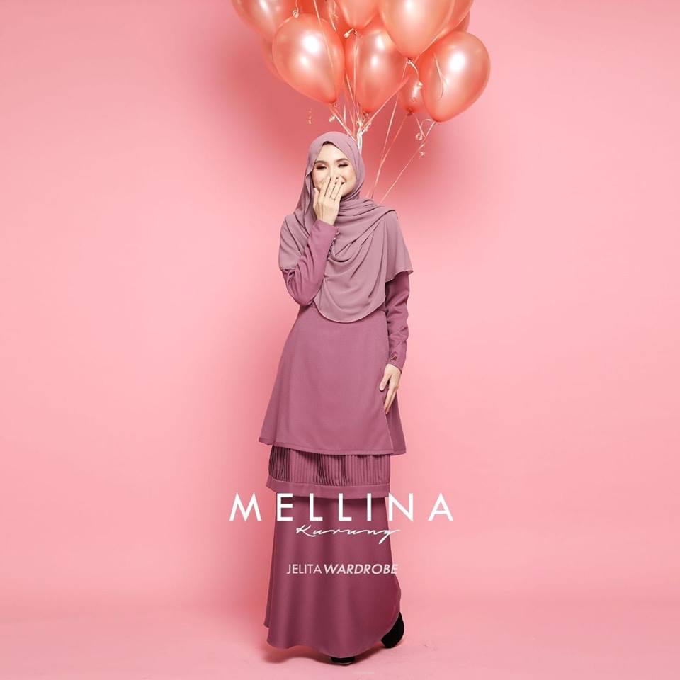 KURUNG MODEN MUSLIMAH MELLINA DUSTY PINK 2