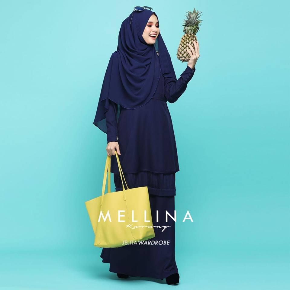 KURUNG MODEN MUSLIMAH MELLINA NAVY BLUE 1