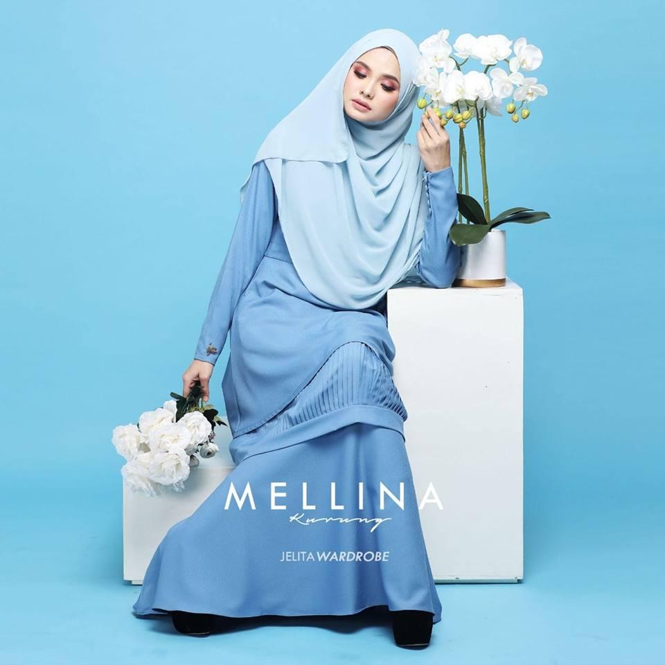 KURUNG MODEN MUSLIMAH MELLINA SKY BLUE 1