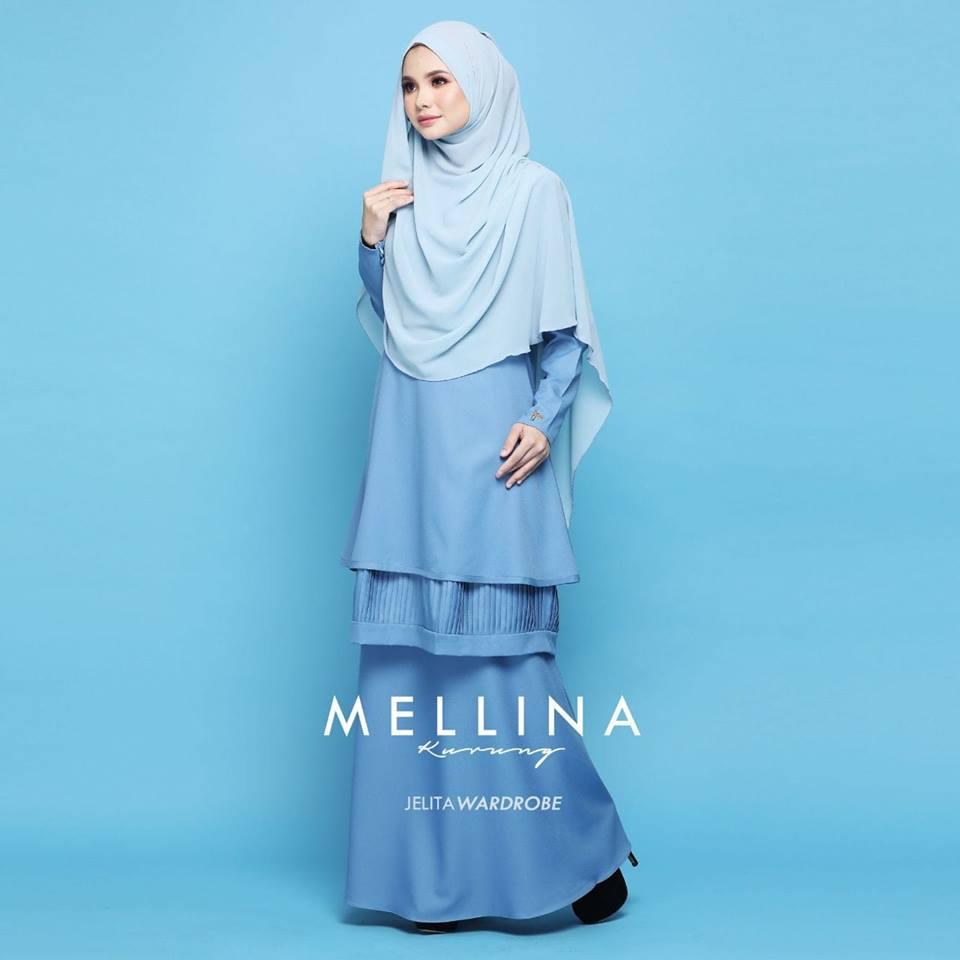 KURUNG MODEN MUSLIMAH MELLINA SKY BLUE 2